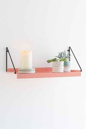 UO Metal Wall Shelves - Coral - Modern for Sale in South Pasadena, CA