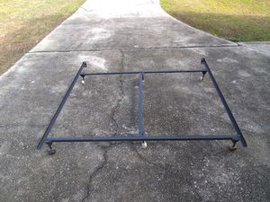 King size bed frame, adjustable to Queen and full for Sale in Lawrenceville, GA