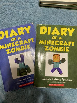Two diary of a Minecraft zombie books for Sale in Wallingford, CT