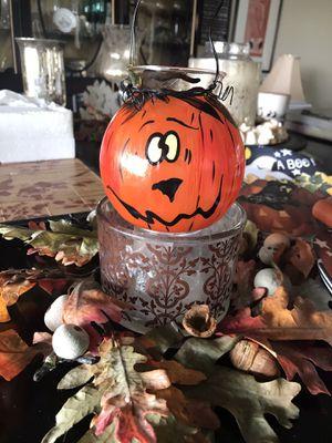 Pumpkin Face Glass Tealight Holder for Sale in Seminole, FL