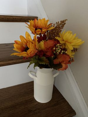 Fall milk can and flowers for Sale in Shippensburg, PA