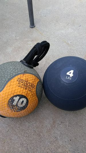 Exercise balls (slam and tornado ball) for Sale in Vista, CA