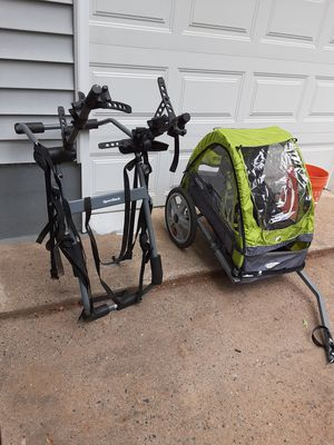Bycicle rack for mid SUV, 3 bikes, kid carrier for Sale in Stafford, VA