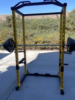 Olympic Weight Set With Power Cage for Sale in Chula Vista,  CA