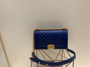 Le boy chanel Blue lambskin Small CC bag (GHW) for Sale in New York, NY