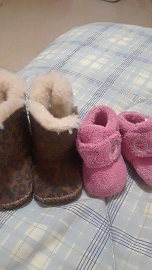 2 pair baby girl size 1 ugh boots for Sale in Philadelphia, PA