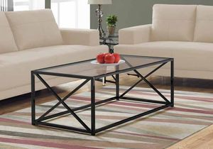 "MONARCH COFFEE TABLE - 44""L WITH TEMPERED GLASS - Brand New In Box Never Opened for Sale in The Colony, TX"