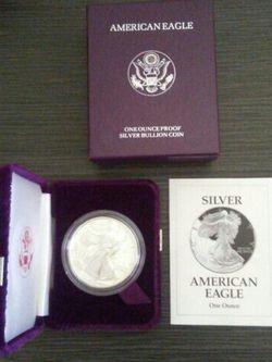 Silver .999 American Silver Eagle 1993 Proof ~ Silver Coins for Sale in El Monte,  CA