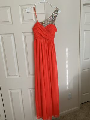 Coral evening dress, size 3 for Sale in Hayward, CA