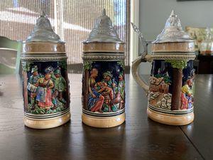 3 / 8 oz. Vintage Handgemalt German Beer Steins for Sale in El Cajon, CA