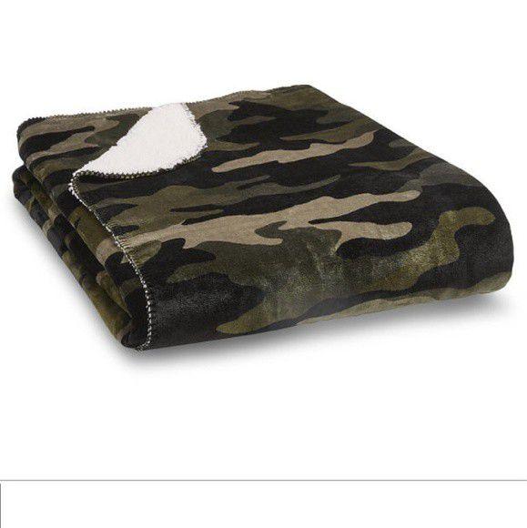 Victoria's Secret Camo Sherpa Blanket