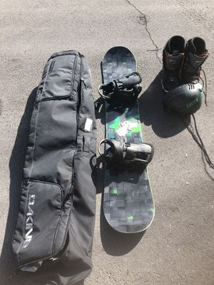 Snowboard with bag, boots and helmet for Sale in Las Vegas, NV