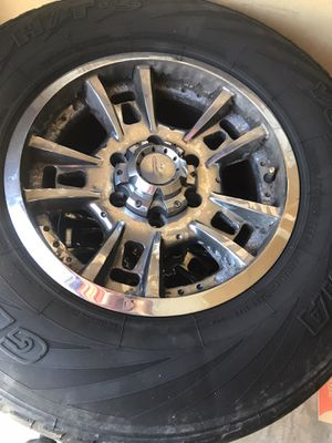 Chevy 6 lug rims and tires for Sale in Charlotte, NC