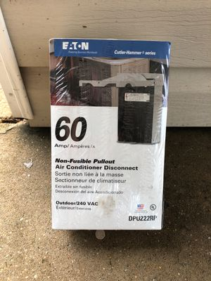 60 amp non-fusible pullout air conditioner disconnect for Sale in Niceville, FL