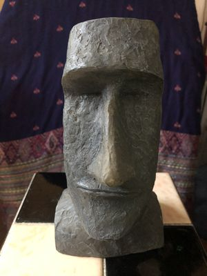 Easter Island Resin hand carved head for Sale in West Haven, CT