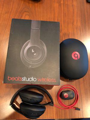Beats by Dre Studio Wireless Headphones - Matte Black for Sale in Seattle, WA