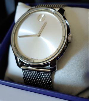 BRAND NEW Movado BOLD Men's 44mm Swiss Movement Silver Stainless Steel Mesh Watch for Sale in Carlsbad, CA