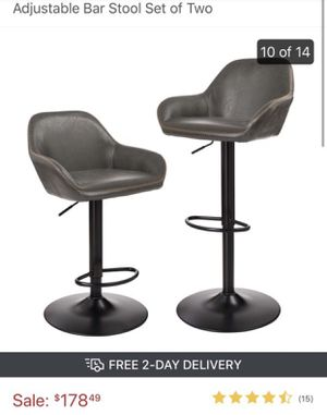 Leatherette Brown Barstools (2 left) for Sale in Las Vegas, NV