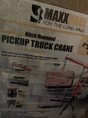 Pick up truck crane brand new open box for Sale in Indianapolis, IN
