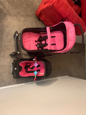 Urbuni car seat with base and matching stroller for Sale in Austell, GA