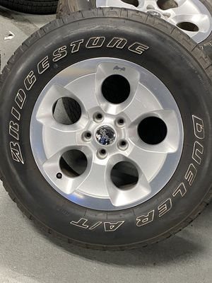 Set of Used Rims and Tires Jeep Wrangler for Sale in Waterbury, CT