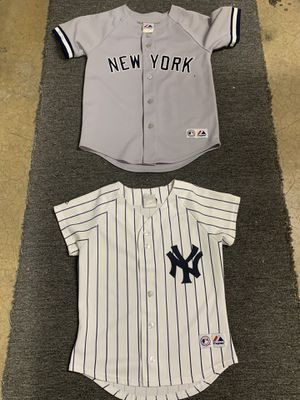 Youth size medium Yankees baseball jerseys shirts for Sale in Garden Grove, CA