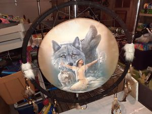 Wolf native dreamcatcher large size for Sale in Erie, PA