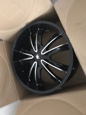 22inch black rims for Sale in Columbus, OH