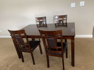 Ashley Bennox Dining Room Table and Chairs for Sale in Fort Wayne, IN