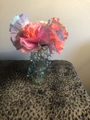Handmade handpainted paper flower bouquets for Sale in Tempe, AZ