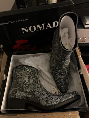 Brand New Nomad Paisley Cowboy Rain Boots Size 8 for Sale in Tacoma, WA