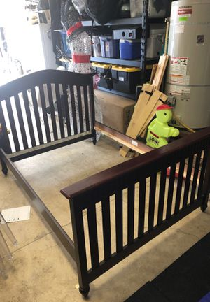 Full size wooden bed frame; Amish style for Sale in King City, OR