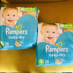 Pampers Baby Dry Diapers Size 4 for Sale in SILVER SPRING, MD