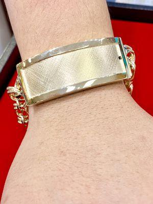 10 karat gold chino link bracelet custom made ( 82grams) ( item # M82) for Sale in Houston, TX