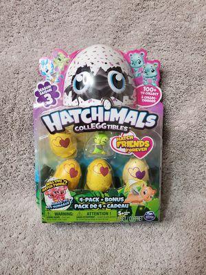 Hatchimals Colleggtibles season 3, 4 pack + bonus for Sale in Mesa, AZ