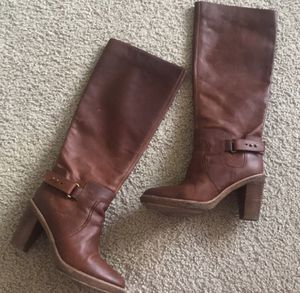 KORS MICHAEL KORS cognac leather boots,8!!NEW condition for Sale in Chicago, IL