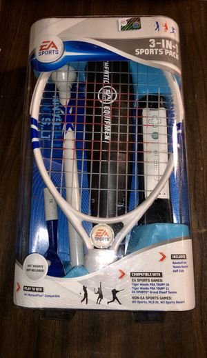 New EA Sports 3-in-1 sports kit for Wii. Includes baseball bat, tennis racket, and golf club. Also compatible with non-EA SPORTS games. for Sale in Norridge, IL