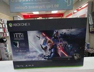Brand New Xbox one X 1TB jedi fallen order bundle on finance with $50 down for Sale in Carrollton, TX