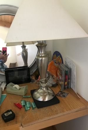 Silver table or desk lamp Shade in good shape for Sale in Orondo, WA