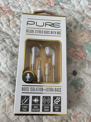 Pure Deluxe Stereo Buds With Mic // Earbuds for Sale in Columbus, OH