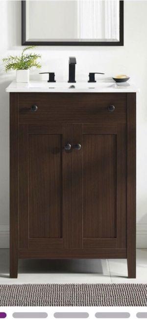 Ekanta 24' single bathroom Vanity set for Sale in Rancho Cucamonga, CA