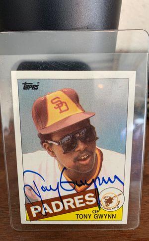 Tony Gwynn autographed baseball card for Sale in San Diego, CA
