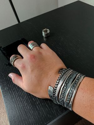 Buck Palmer Oxidized Tube Ring Size 9 for Sale in Spring, TX