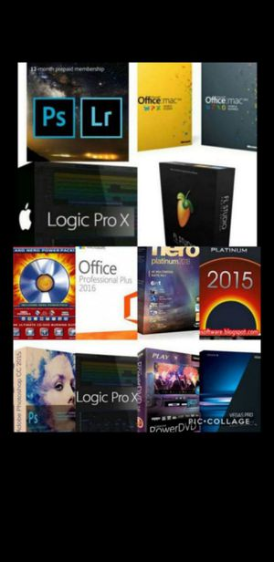 $10 PHOTOSHOP CC LIGHTROOM, LOGIC PRO X, MICROSOFT OFFICE, FRUITY LOOPS OR ANYOTHER PROGRAM PC OR MAC! $10! IRVING LEWISVILLE DENTON DUNCANVILLE for Sale in Dallas, TX