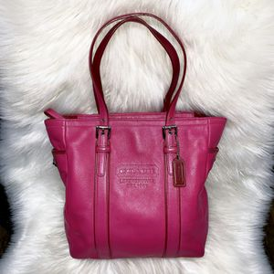 Authentic Pink Leather Coach Purse for Sale in Chandler, AZ