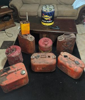 Old gas cans for Sale in Gilmer, TX