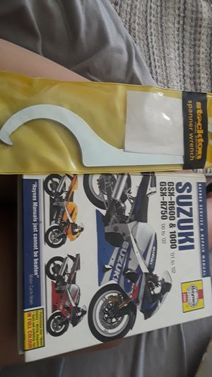 Suzuki Motorcycle Manual & Spanner Wrench for Sale in San Diego, CA
