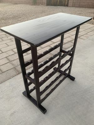 wine bottle table for Sale in Tucson, AZ