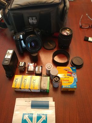 Canon EOS 5 35mm film camera for sale w/film and 2 lenses for Sale in Seattle, WA
