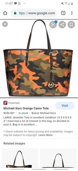 MK orange camo tote for Sale in Odessa, TX
